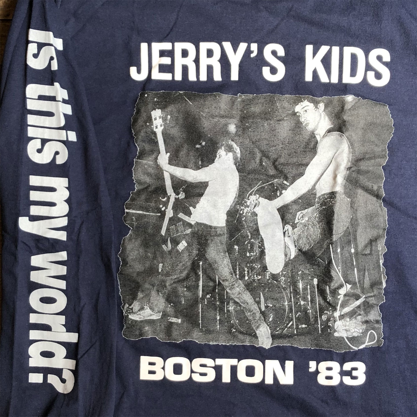 JERRY'S KIDS ロングスリーブTシャツ IS THIS MY WORLD?