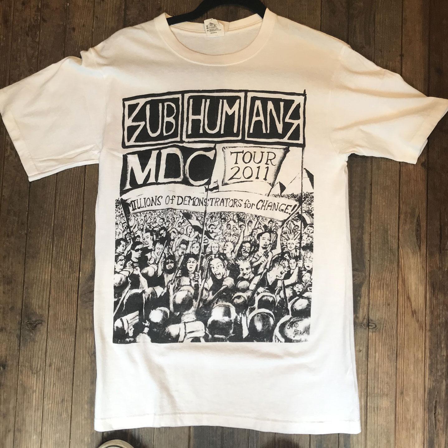 USED! SUBHUMANS MDC Tシャツ TOUR 2011