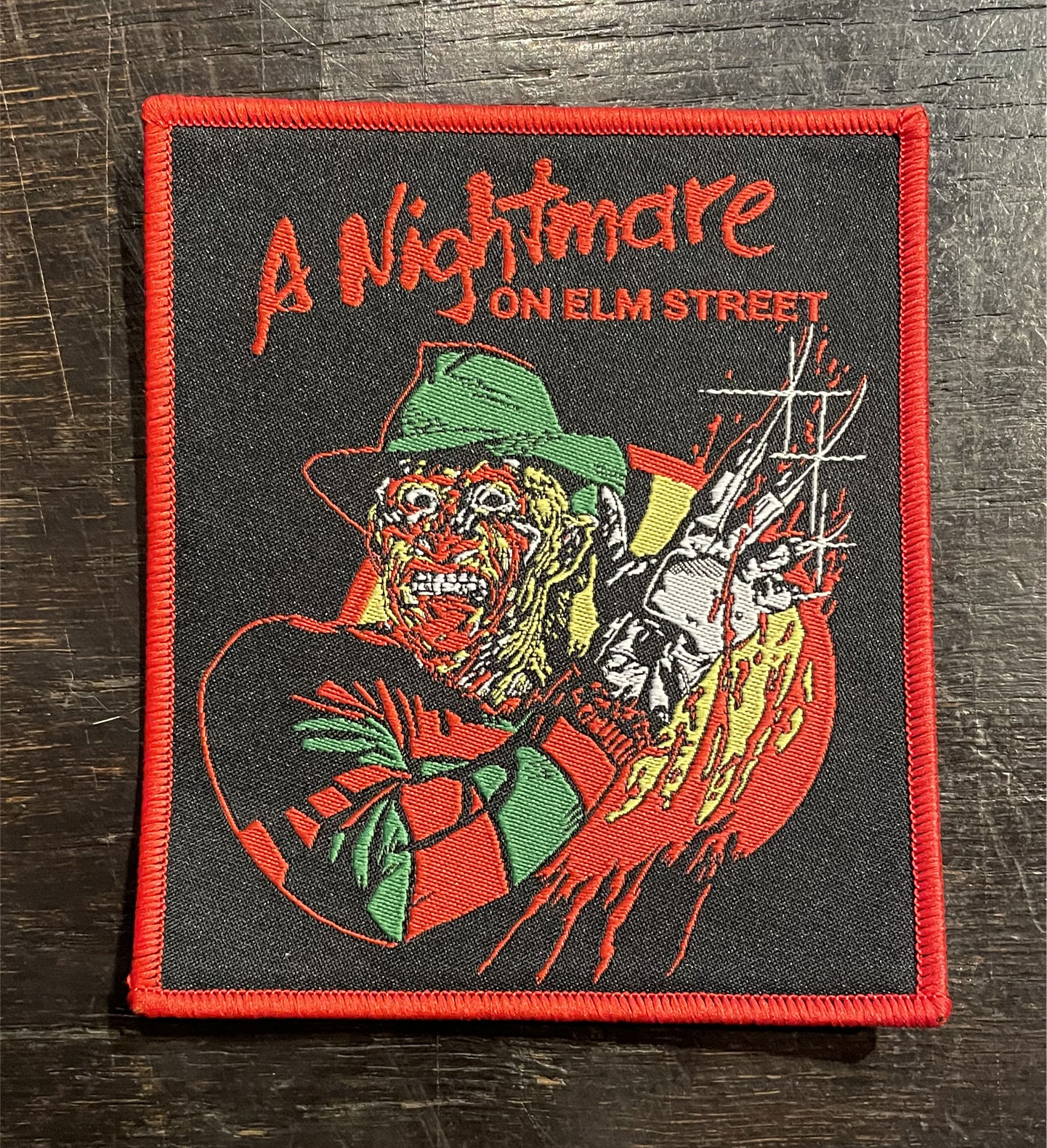 A Nightmare on Elm Street 刺繍ワッペン Freddy