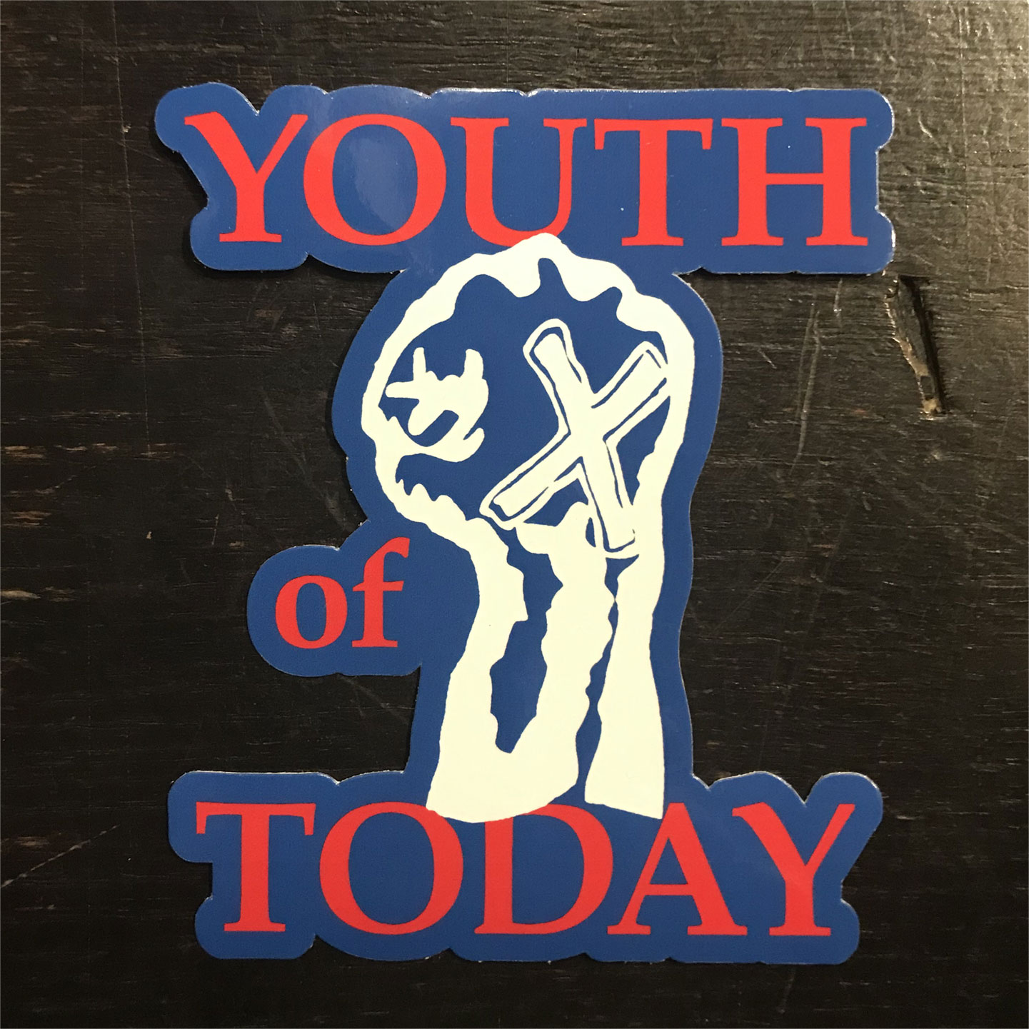 YOUTH OF TODAY ステッカー FISTダイカット