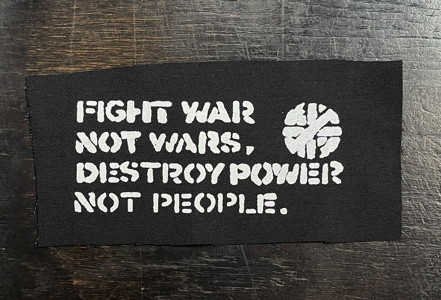 CRASS PATCH FIGHT WAR NOT WARS
