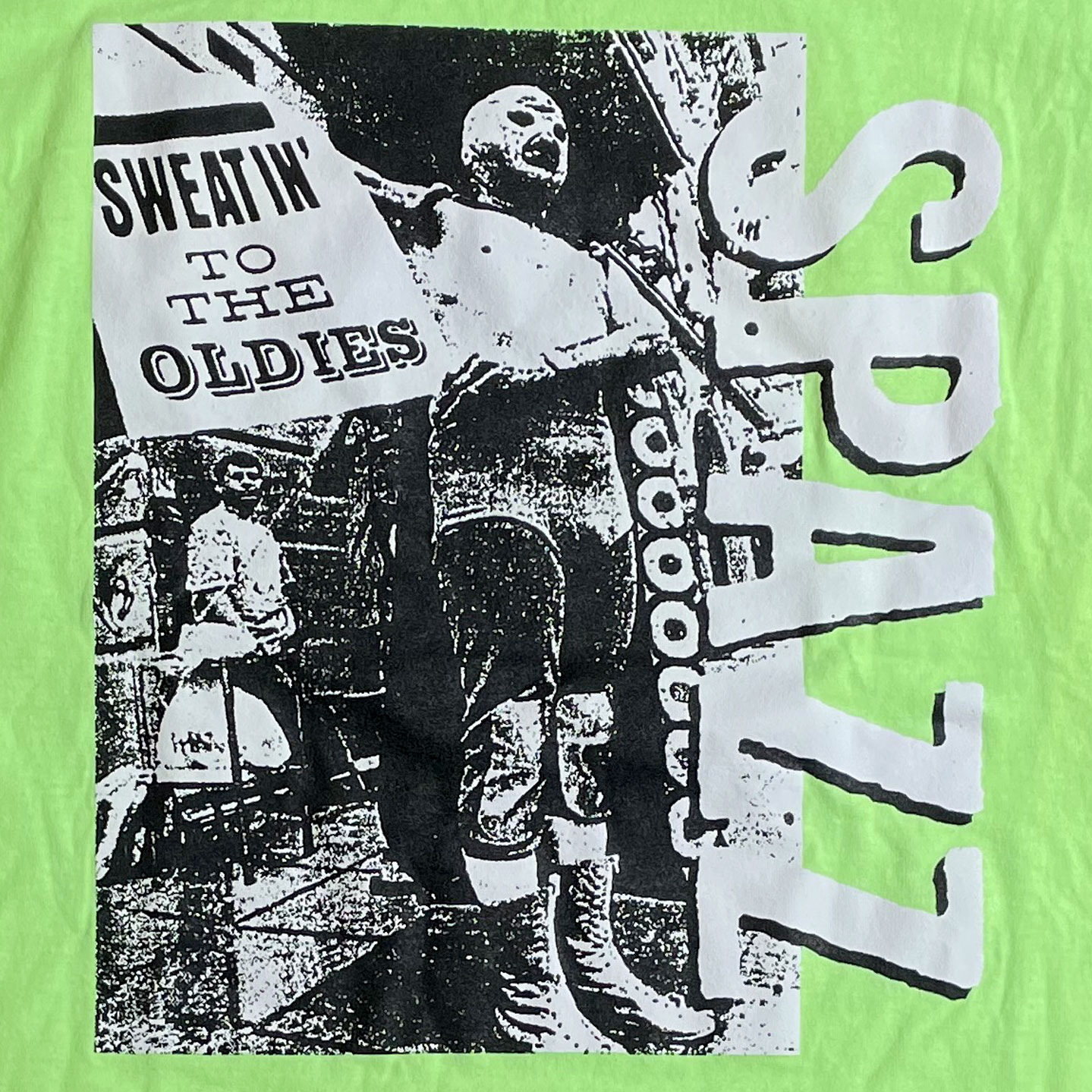 SPAZZ Tシャツ Sweatin' To The Oldies NEON GREEN