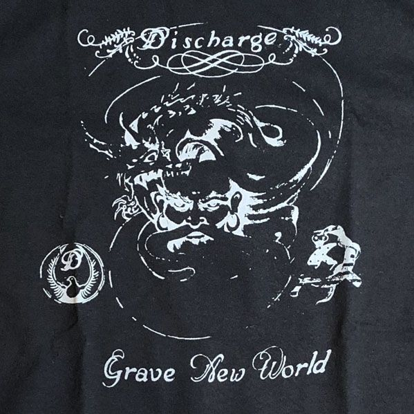 DISCHARGE Tシャツ GRAVE NEW WORLD 1