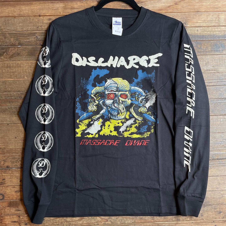 DISCHARGE ロングスリーブTシャツ MASSACRE DEVINE