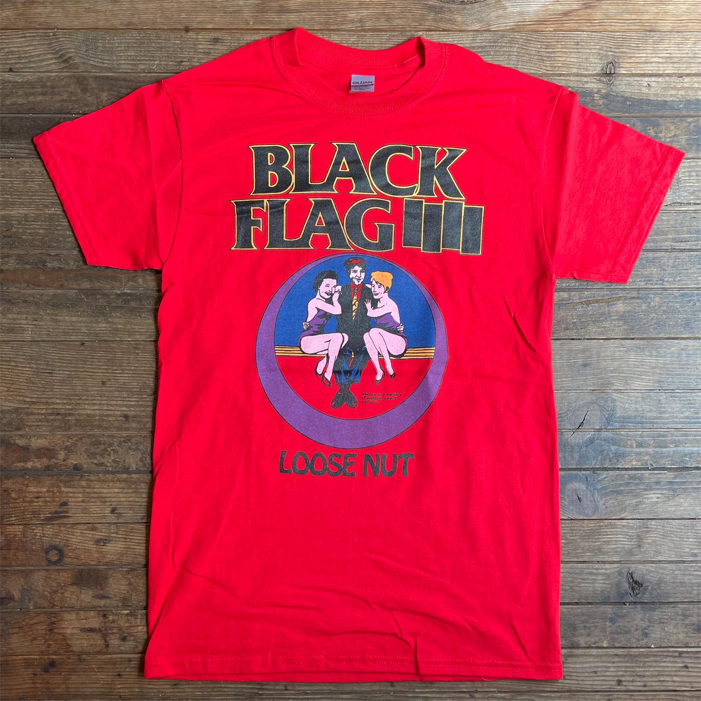 BLACK FLAG Tシャツ LOOSE NUT RED