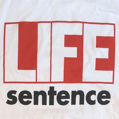 LIFE SENTENCE Tシャツ 1stジャケット WHITE オフィシャル!!