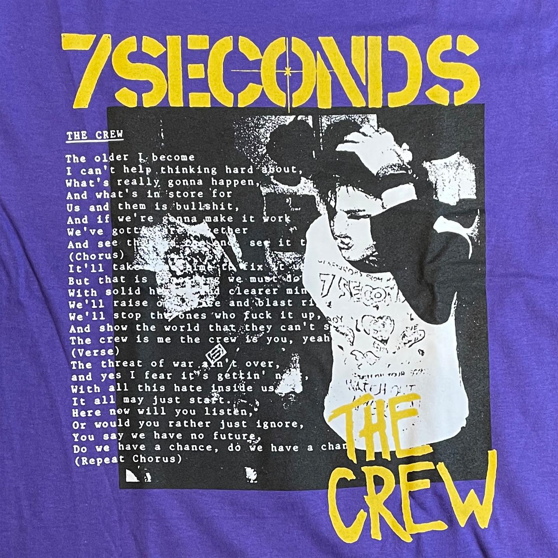 7SECONDS Tシャツ Head Hold Purple オフィシャル!