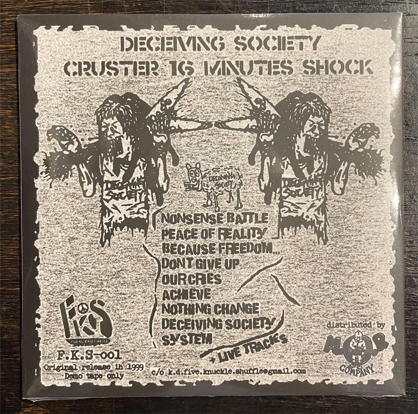 DECEIVING SOCIETY CD CRUSTER 16 MINUTES SHOCK (LTD.500)