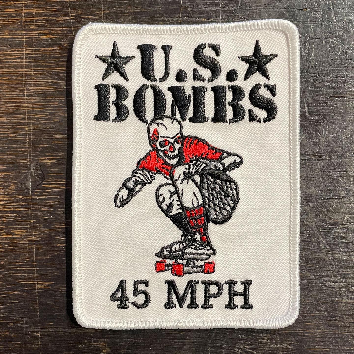 US BOMB 刺繍ワッペン 45MPH