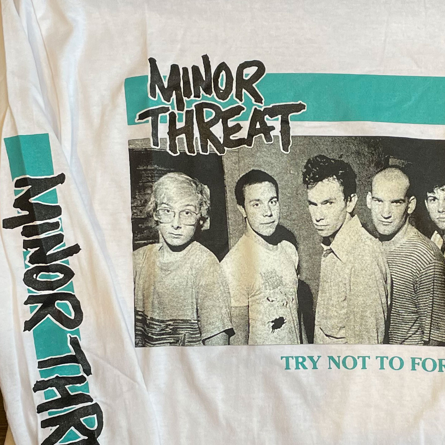 MINOR THREAT ロングスリーブTシャツ TRY NOT TO FORGET