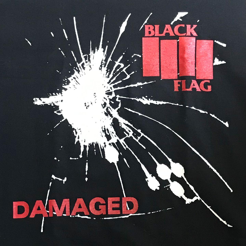 USED! BLACK FLAG Tシャツ DAMAGED