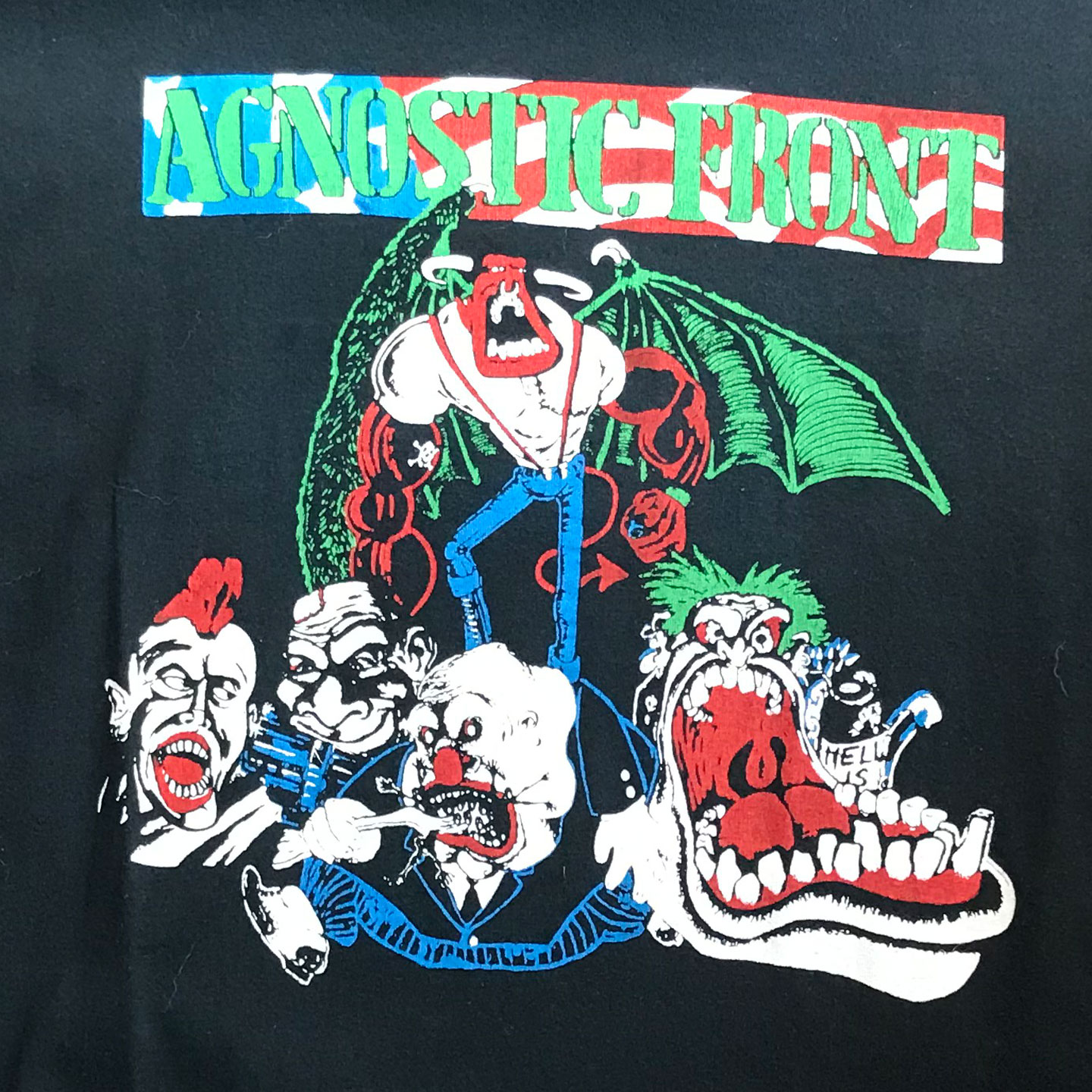 USED! AGNOSTIC FRONT Tシャツ CAUSE FOR ALARM