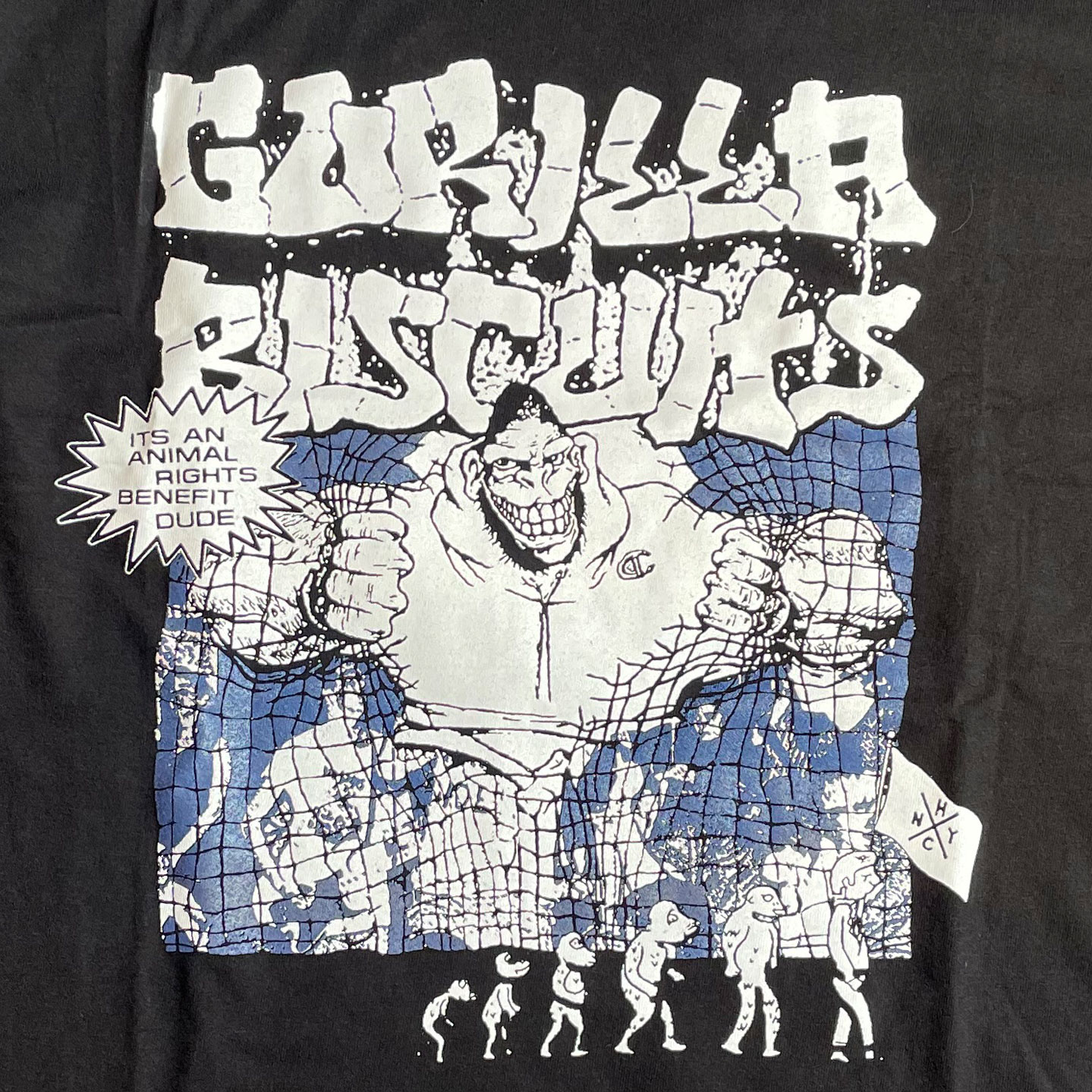 GORILLA BISCUITS Tシャツ ANIMAL RIGHTS