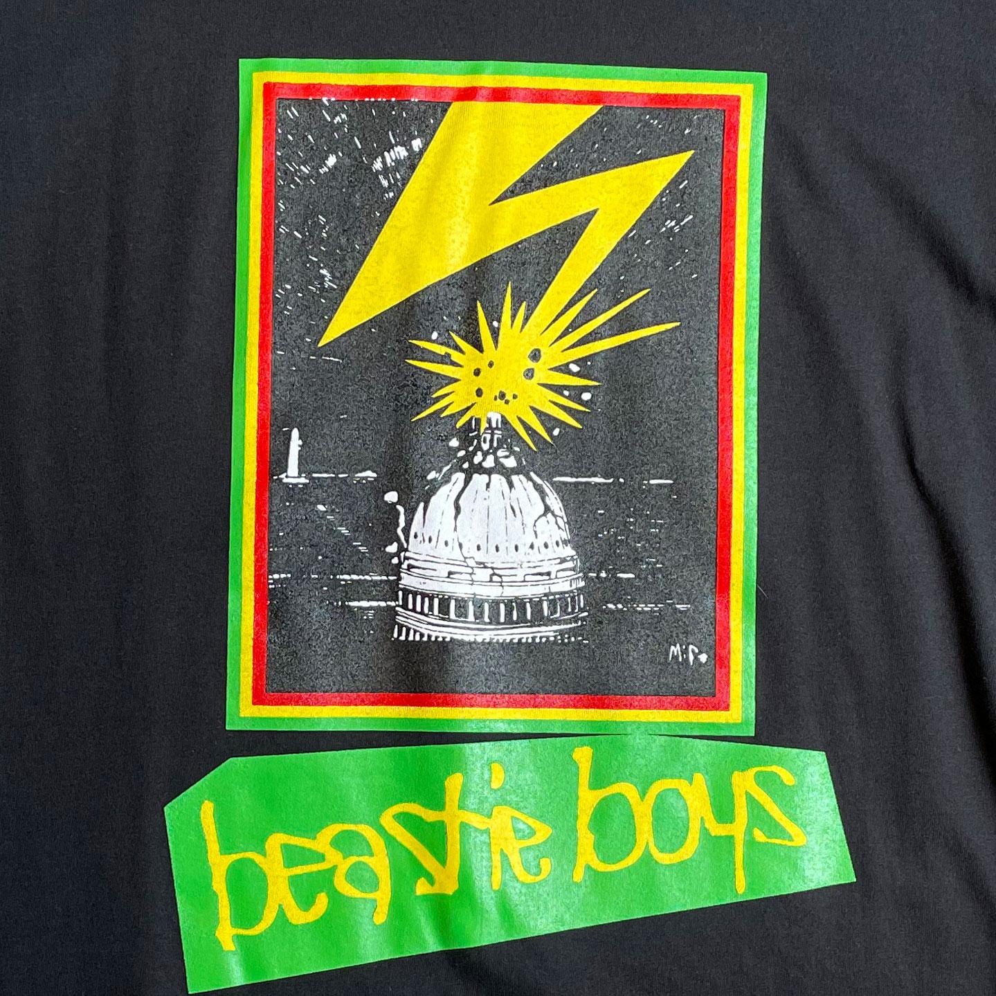 BEASTIE BOYS ロングスリーブTシャツ Capitol BLACK