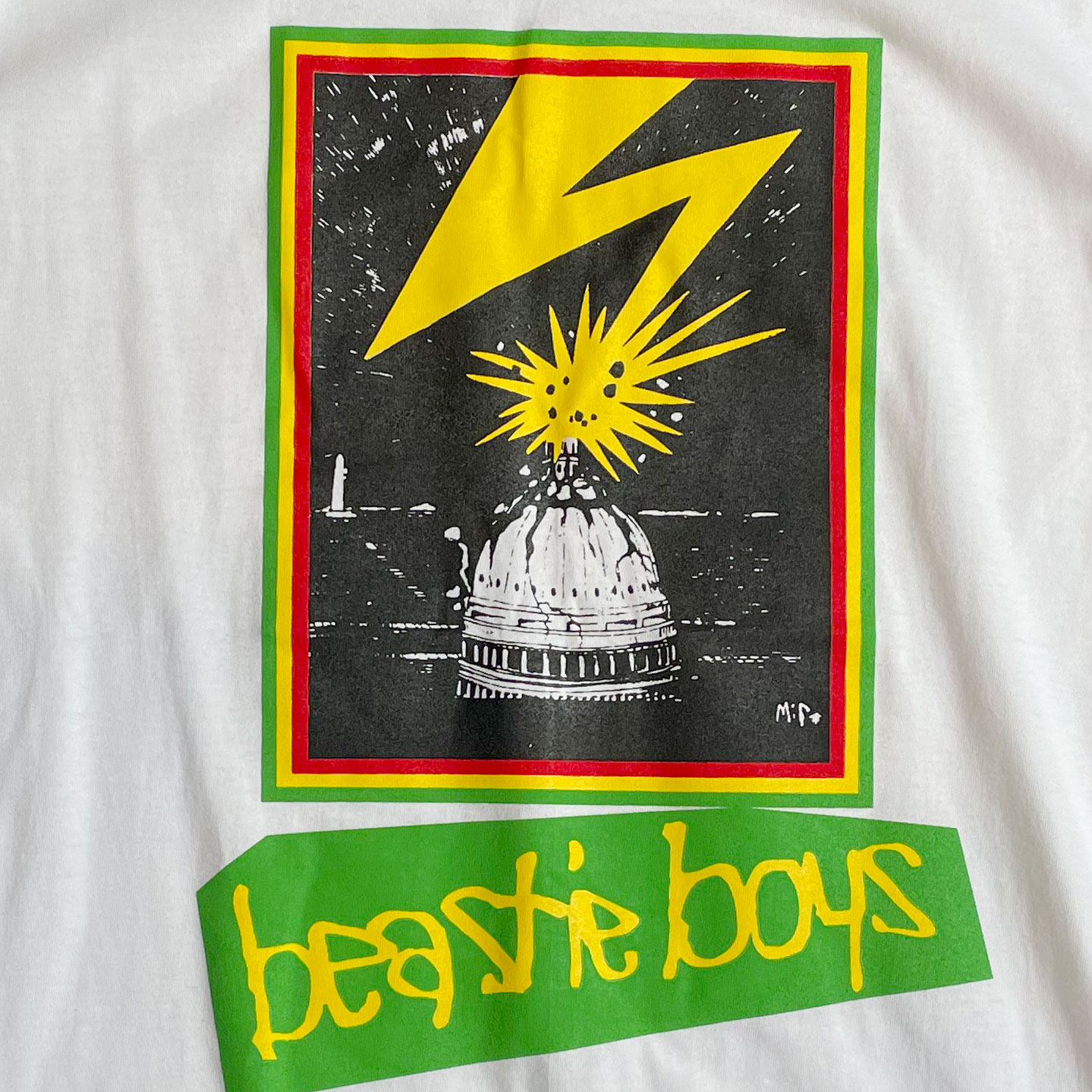 BEASTIE BOYS ロングスリーブTシャツ Capitol WHITE