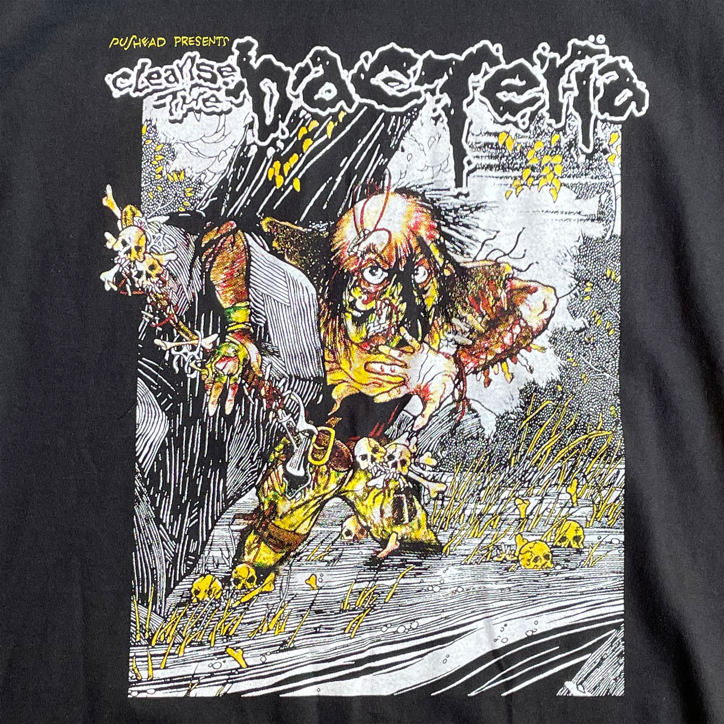 CLEANSE THE BACTERIA ロングスリーブTシャツ