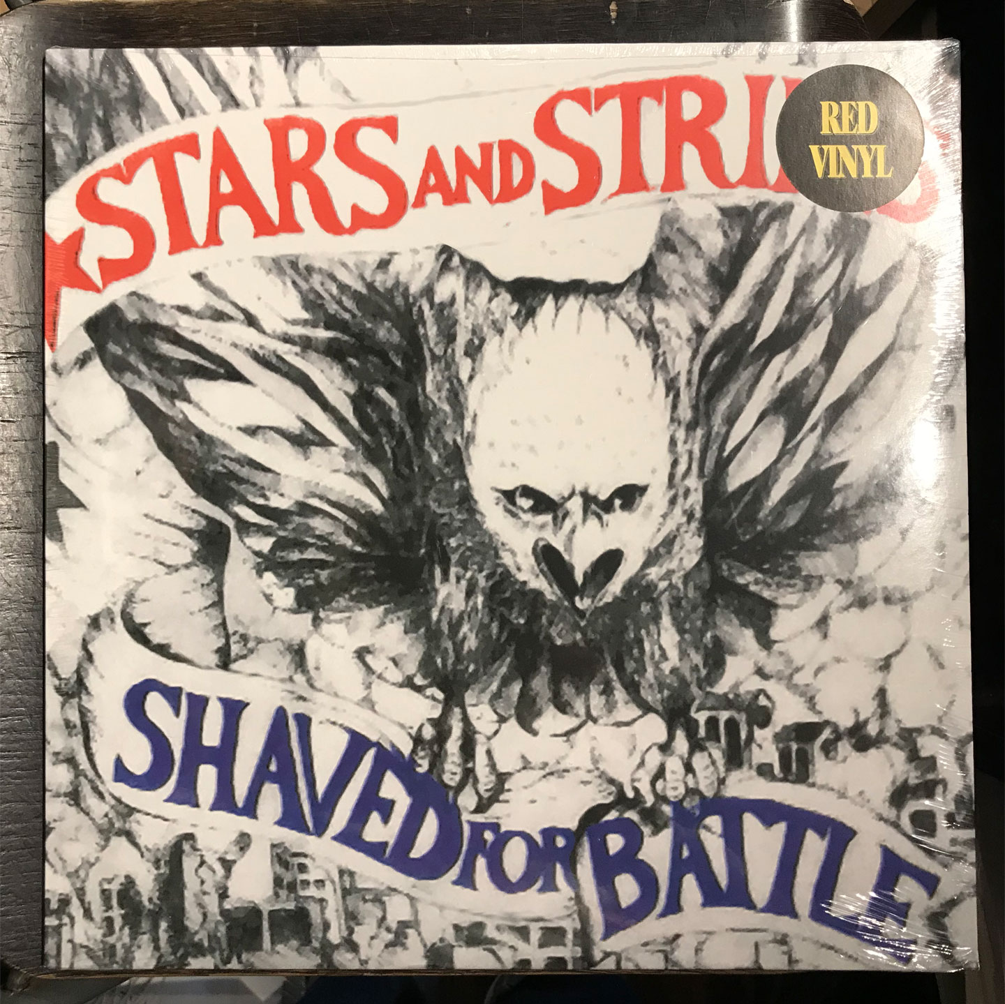 STARS AND STRIPES LP SHAVED FOR BATTLE