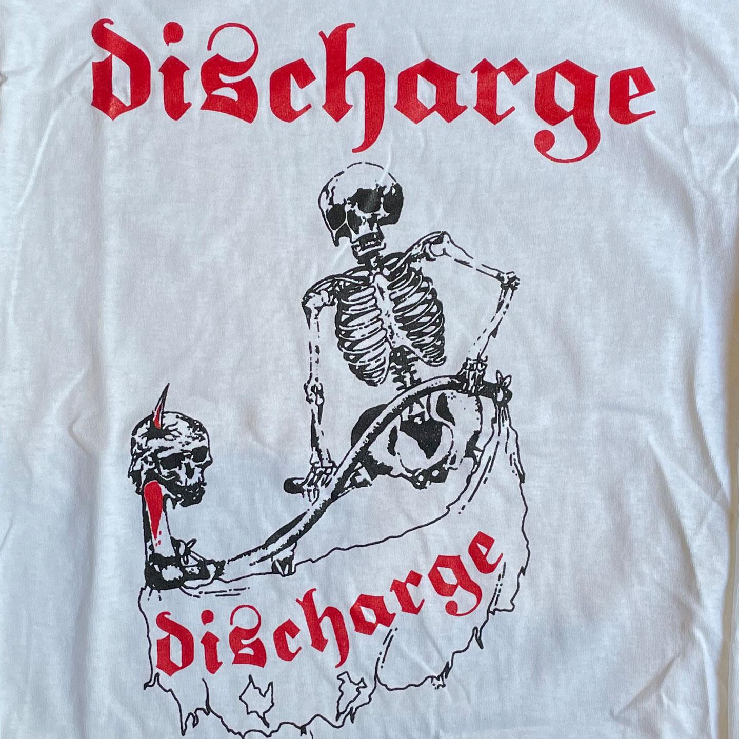 DISCHARGE ロングスリーブTシャツ SKULL オフィシャル!