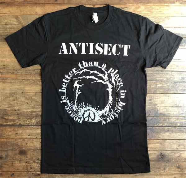 ANTISECT Tシャツ Peace Is Better Than A Place In History オフィシャル!