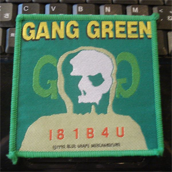 GANG GREEN DEADSTOCK 刺繍ワッペン 181B4U