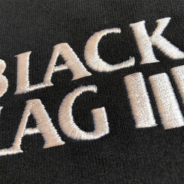 BLACK FLAG パーカー 刺繍ロゴ オフィシャル