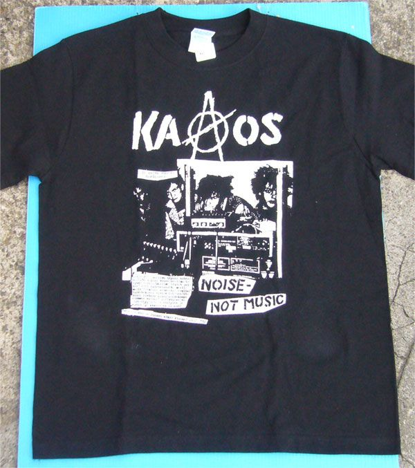 KAAOS Tシャツ NOISE NOT MUSIC